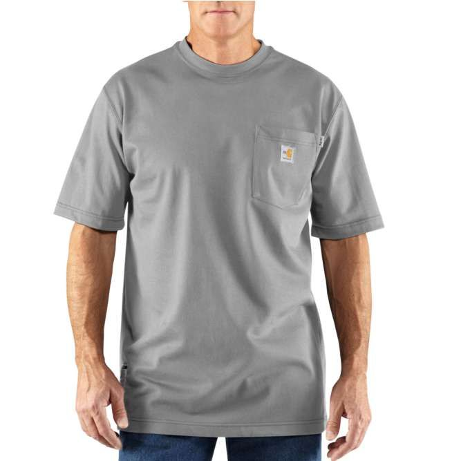 Carhartt Flame Resistant Carhartt Force Short Sleeve T‐Shirt, 100234 Light Gray