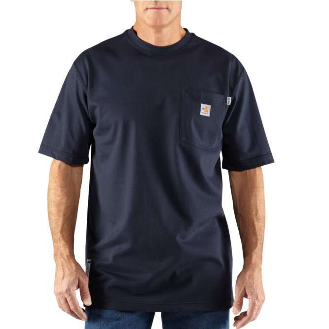 Carhartt Flame Resistant Carhartt Force Short Sleeve T‐Shirt, 100234 Dark Navy Option