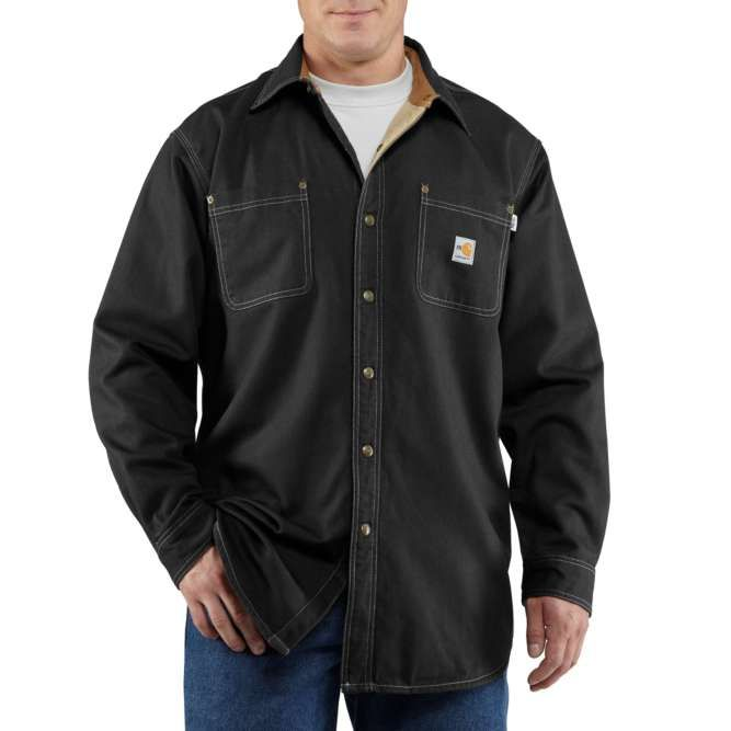 Carhartt Flame Resistant Canvas Shirt Jac, 100432 Black