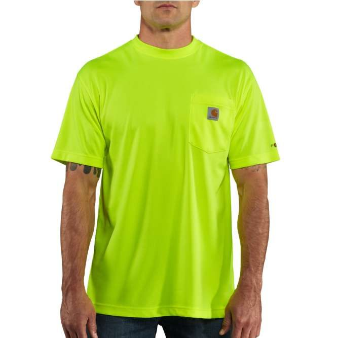 Carhartt Force Color Enhanced Short Sleeve T‐Shirt, 100493 Brite Lime