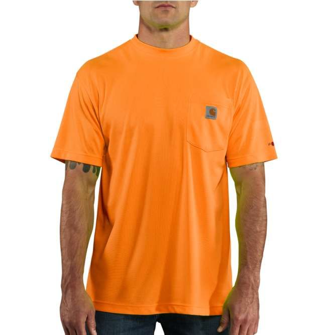 Carhartt Force Color Enhanced Short Sleeve T‐Shirt, 100493 Brite Orange Option
