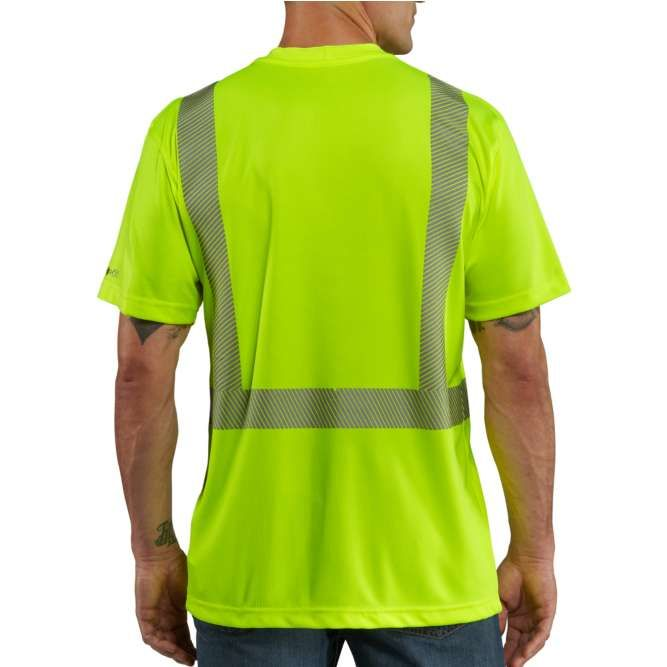 Carhartt Force High Visibility Short Sleeve Class 2 T‐Shirt, 100495 Brite Lime Back