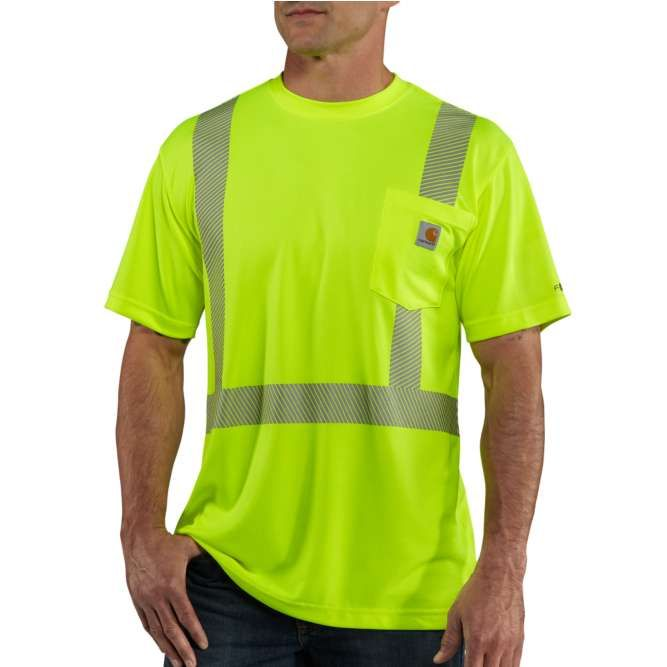 Carhartt Force High Visibility Short Sleeve Class 2 T‐Shirt, 100495 Brite Lime Option