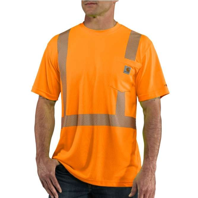 Carhartt Force High Visibility Short Sleeve Class 2 T‐Shirt, 100495 Brite Orange Option