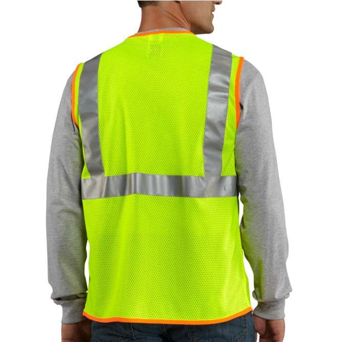 Carhartt High Visibility Class 2 Vest, 100501 Brite Lime back