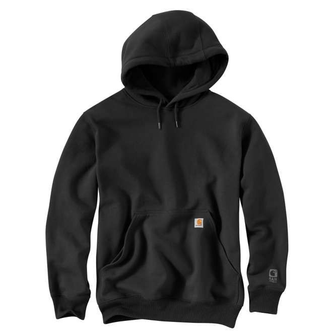 Carhartt Rain Defender Paxton Hooded Heavyweight Sweatshirt 100615 Black