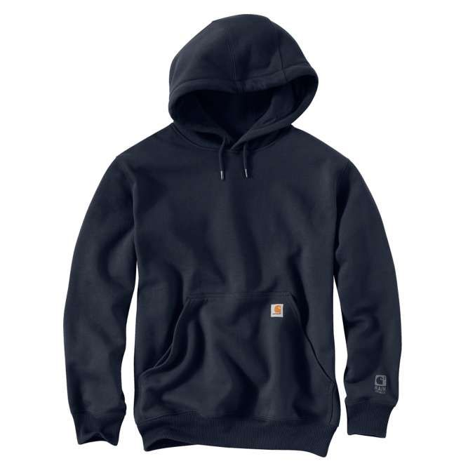 Carhartt Rain Defender Paxton Hooded Heavyweight Sweatshirt 100615 New Navy