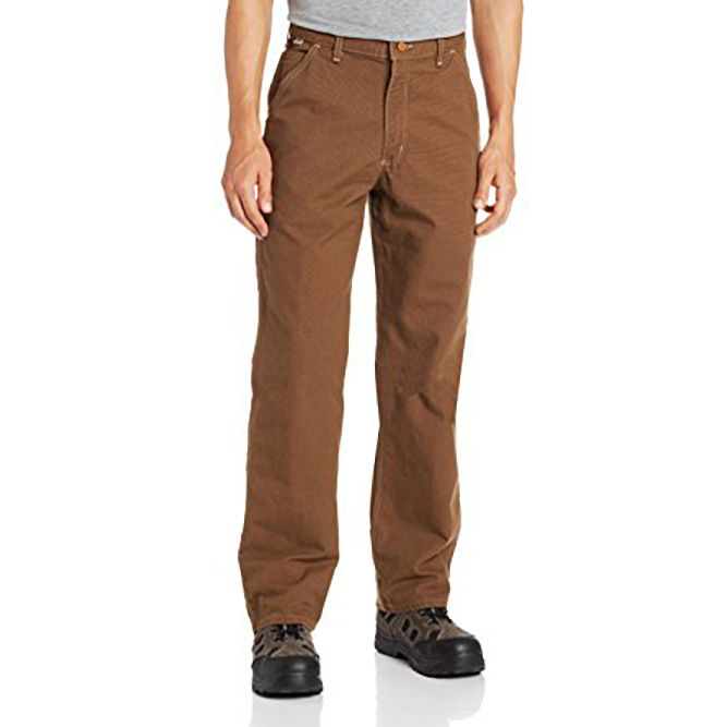 Carhartt Flame‐Resistant Washed Duck Work Dungaree, 100791 Mid Brown