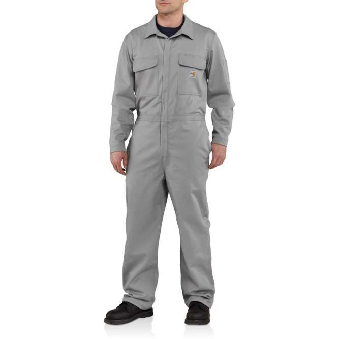 Carhartt Flame Resistant Traditional Twill Coveralls, 101017 Gray