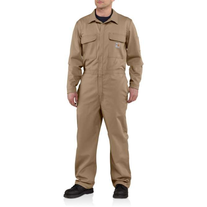 Carhartt Flame Resistant Traditional Twill Coveralls, 101017 Khaki