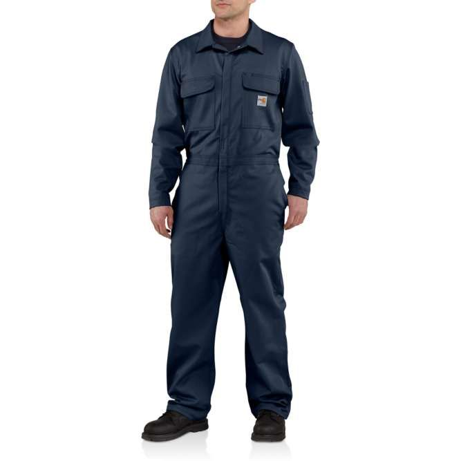 Carhartt Flame Resistant Traditional Twill Coveralls, 101017 Dark Navy Option