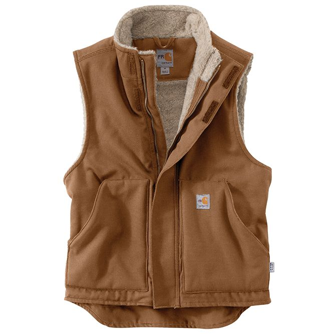 Carhartt Flame‐Resistant Mockneck Vest, 101029 Carhartt Brown Option