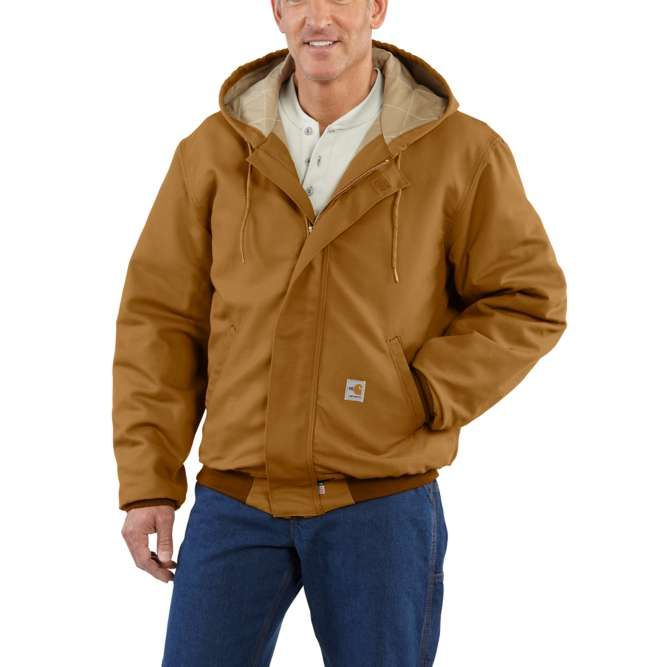Carhartt Flame Resistant Midweight Active Quilt Lined Jac, 101622 Carhartt Brown Option