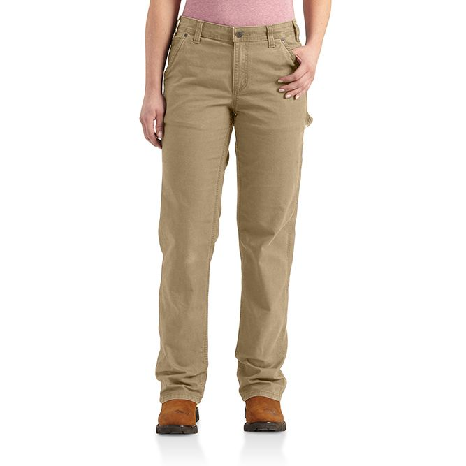Carhartt Ladies Original Fit Crawford Pant, 102080 Dark Khaki