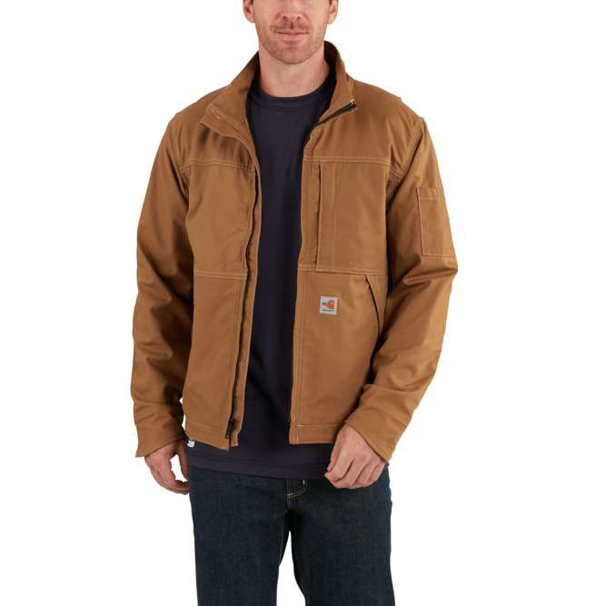 Carhartt Full Swing Quick Duck Flame Resistant Jacket, 102179 Carhartt Brown