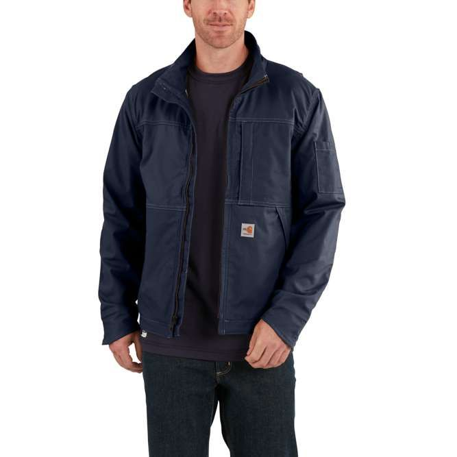 Carhartt Full Swing Quick Duck Flame Resistant Jacket, 102179 Dark Navy Option