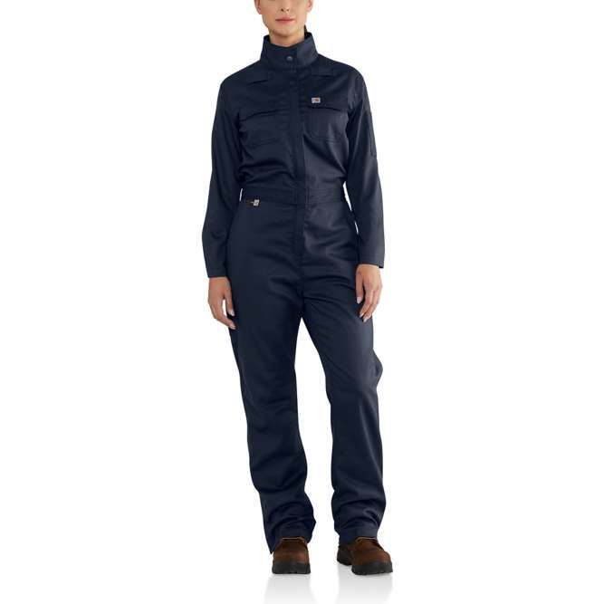 Carhartt Women's Flame Resistant Rugged Flex Coverall, 102450 Dark Navy