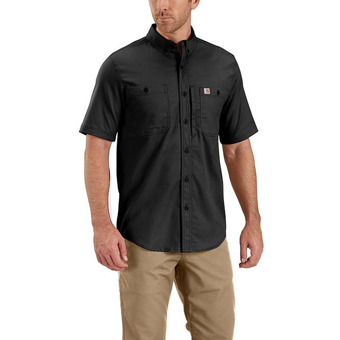 Carhartt Rugged Professional Series Men's Short Sleeve Shirt, 102537 Black