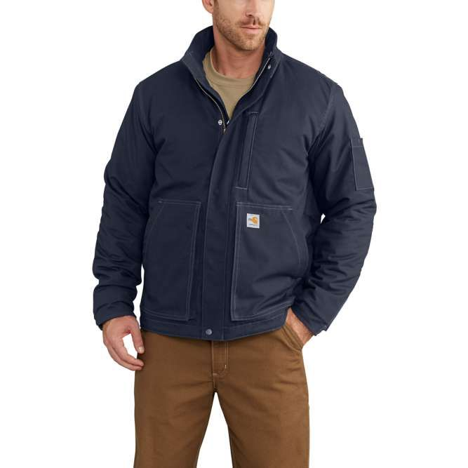 Carhartt Full Swing Quick Duck Flame Resistant Lanyard Access Jacket, 102692 Dark Navy