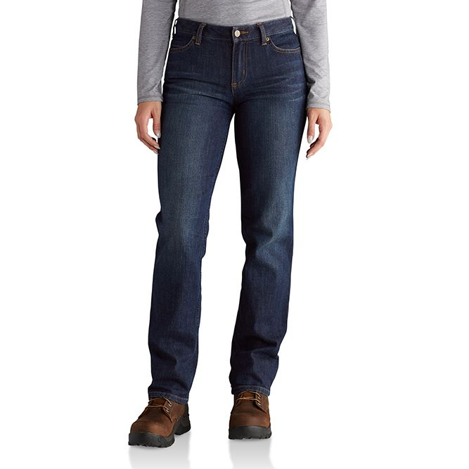 Carhartt Ladies Original-Fit Blaine Jeans, 102731 Bluestone Option