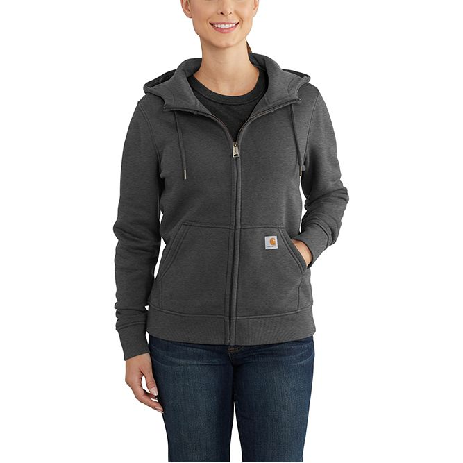 Carhartt Ladies Clarksburg Full‐Zip Hoodie, 102788 Carbon Heather