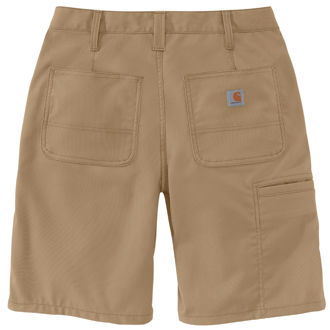 Carhartt Ladies Original Fit Rugged Professional Series Short, 103103 Dark Khaki back