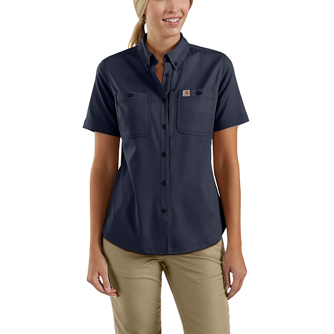 Carhartt Ladies Rugged Professional Series Short Sleeve Shirt, 103105 Navy Option