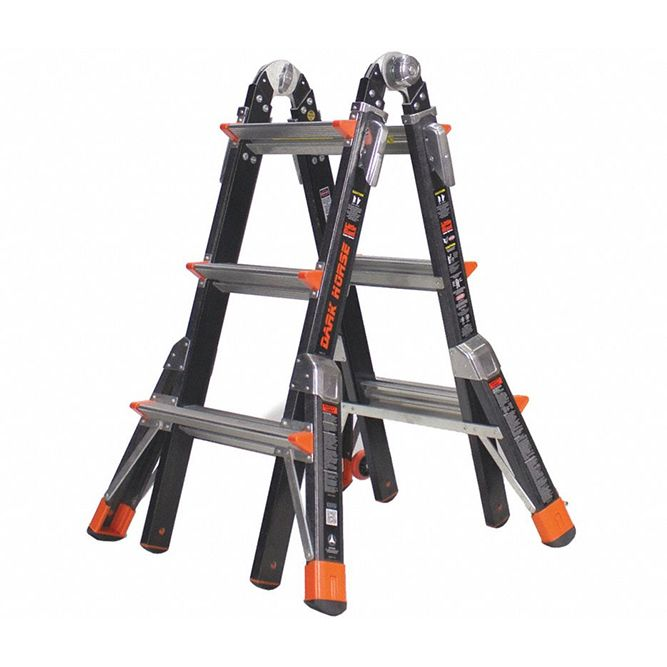 Little Giant 13 foot Dark Horse Fiberglass Multi‐Use Type 1AA Ladder 15143‐001