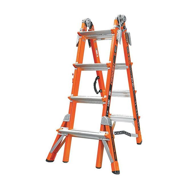 Little Giant 17 foot Conquest Fiberglass Multi‐Use Type 1A Ladder 15144‐186