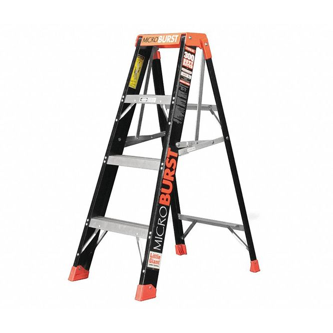 Little Giant 4 foot MicroBurst Fiberglass Stepladder Type 1AA 15700-001