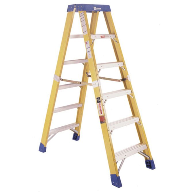 Bauer 6 foot Fiberglass Two‐Way Stepladder Type IAA 375 lb Rated, 35206