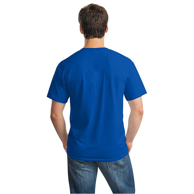 Gildan Heavy Cotton T‐shirt, 5000 Royal Blue Back