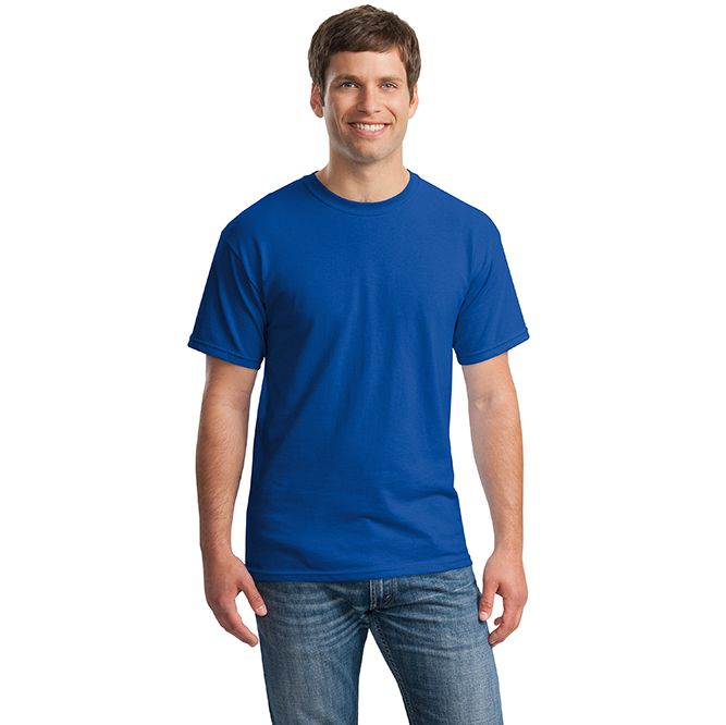 Gildan Heavy Cotton T‐shirt, 5000 Royal Blue Model